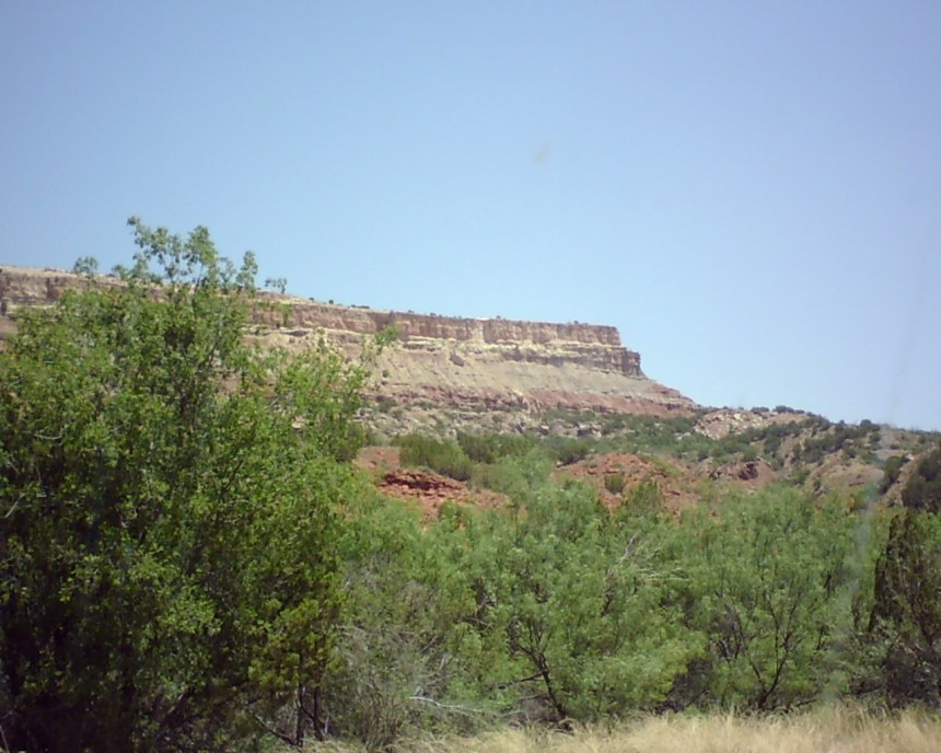 A Wall in the Texas Palo Duro Canyon