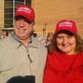 John and Chris at Trump Rally