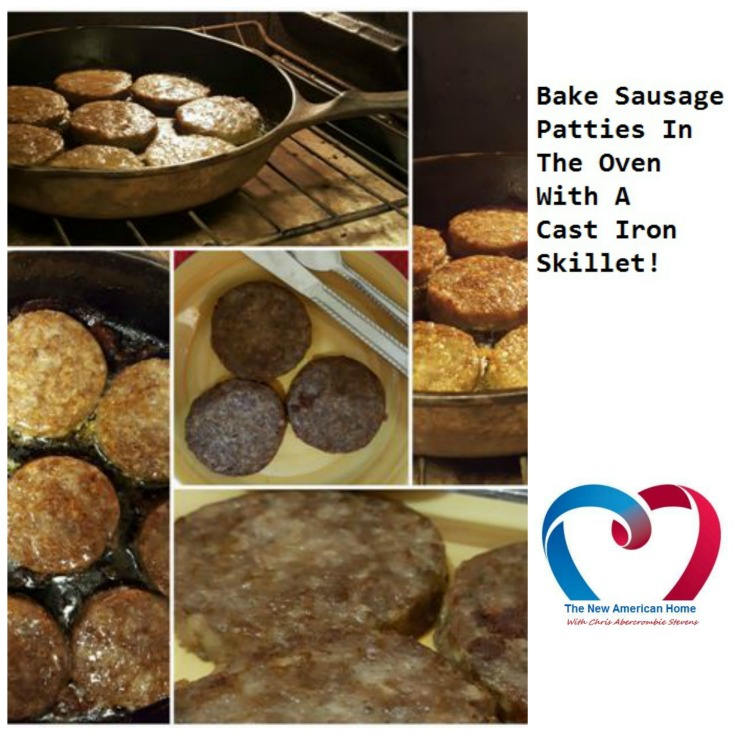 Bake Sausage Patties In A Cast Iron Skillet