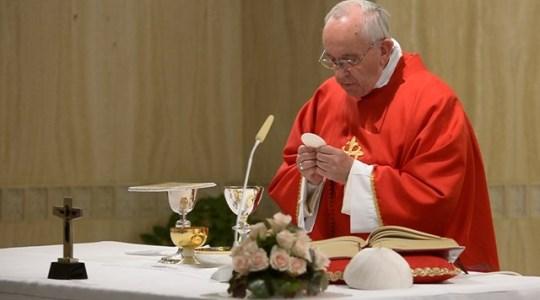 Poranna Msza papieska: zwycięstwo Odrzuconego