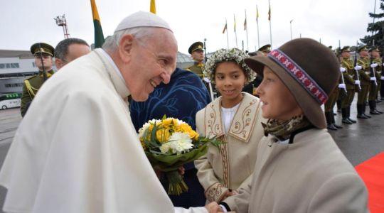Przywitanie Ojca Świętego z Litwą (Vatican Service News - 22.09.2018)