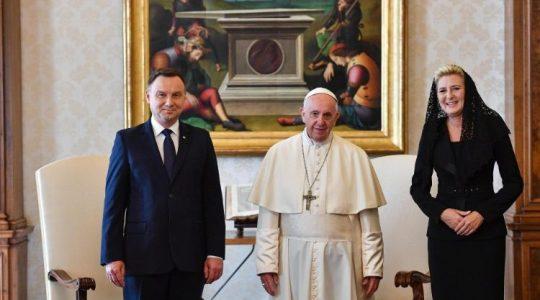 Prezydent Andrzej Duda na audiencji u Ojca Świętego Franciszka (Vatican Service News - 15.10.2018)