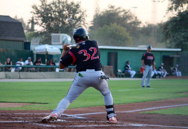 Lake Elsinore's, Josh Naylor, up at bat while at Bakersfield