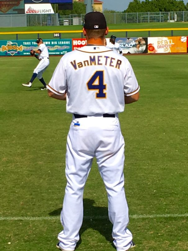 Josh VanMeter pre-game in Peoria 10/28/16