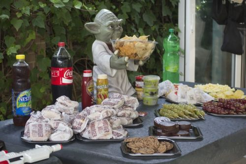 Comida de cumpleaños Star Wars con Yoda