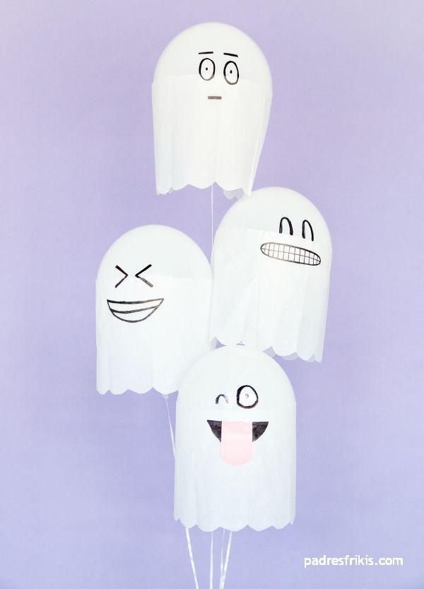 globos fantasmas manualidades para halloween