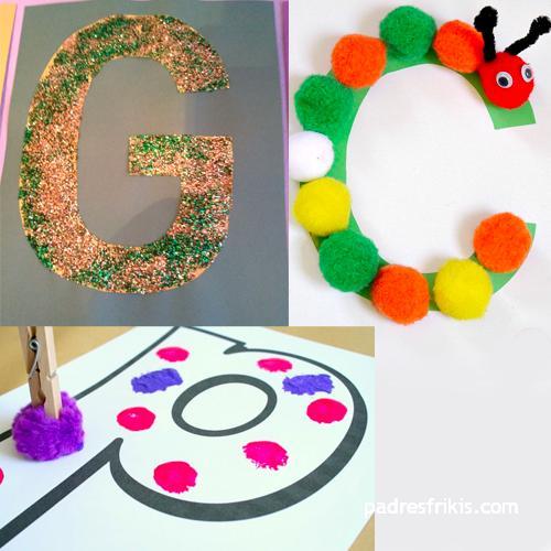 ejemplo de manualidad con letras del alfabeto