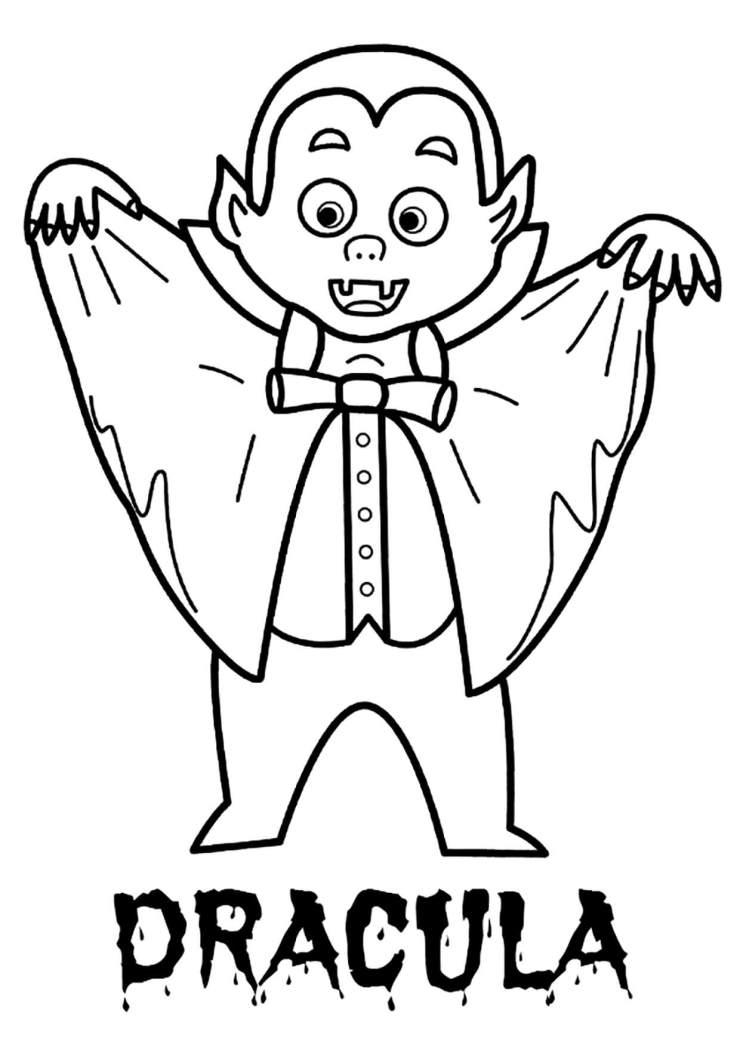 Dibujo Dracula colorear e imprimir
