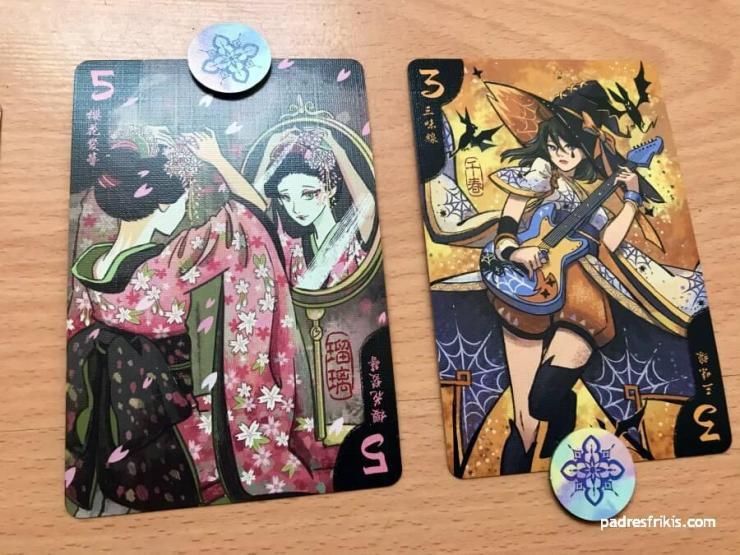 Cada jugador tiene el favor de una Geisha