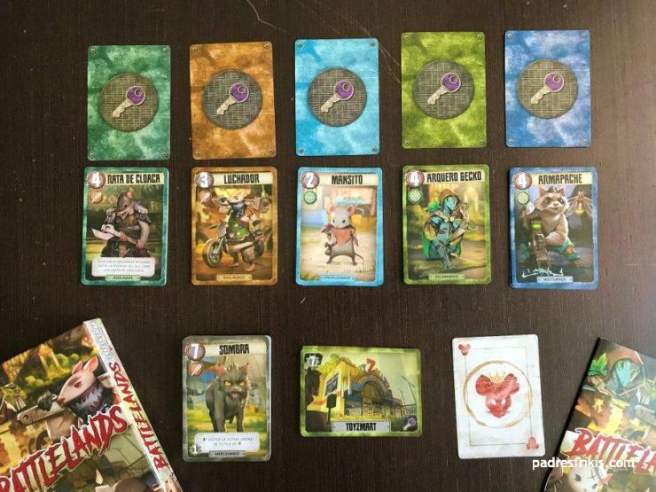 Todos los tipos de cartas de Battlelands