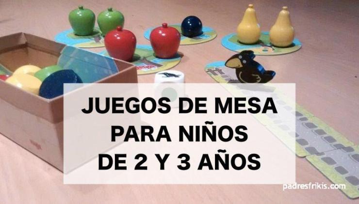 Juegos de mesa para niños de 2 y 3 años