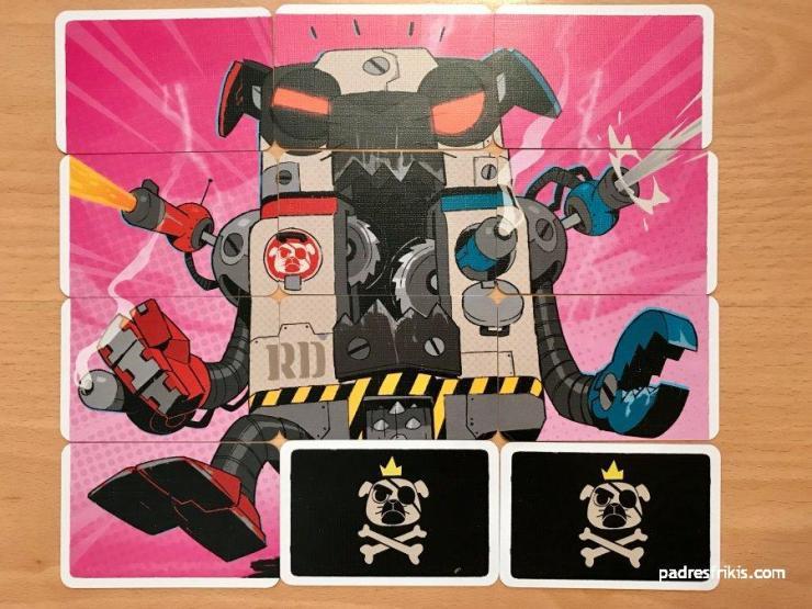 Roboperro con 2 cartas volteadas