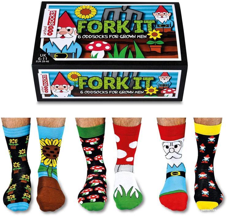 Calcetines Fork It coloridos y divertidos