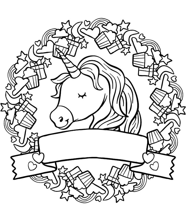 dibujo de unicornio imprimible
