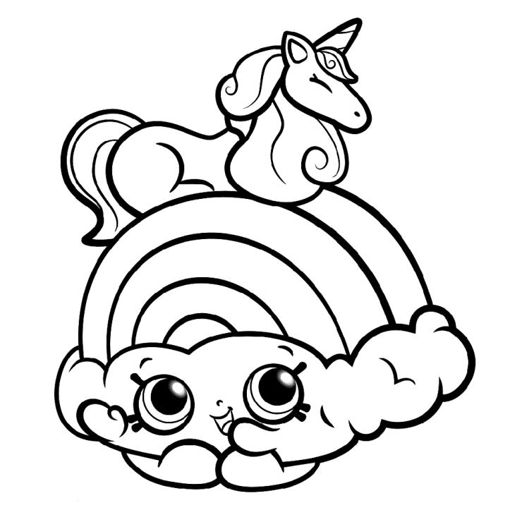 dibujo de unicornio con arcoiris