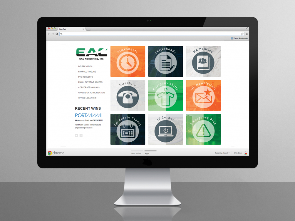 eac consulting intranet web design gracie padron design studio