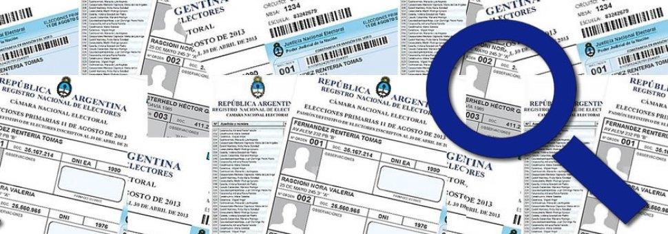 Consulta Padrón Electoral Argentina 2019