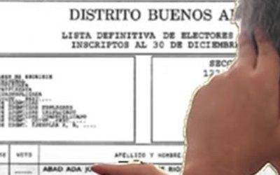 Dónde voto: ya se puede consultar el padrón electoral provisorio
