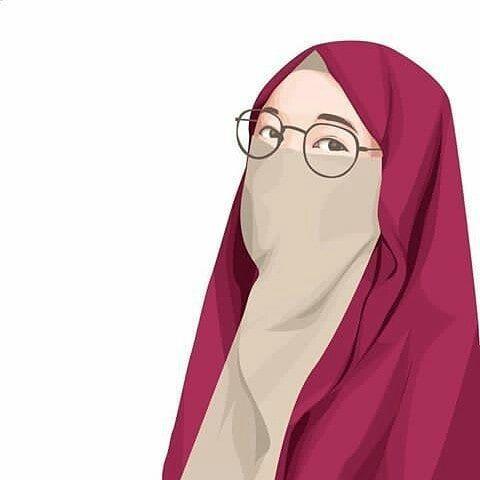 Gambar kartun muslimah berkacamata 13