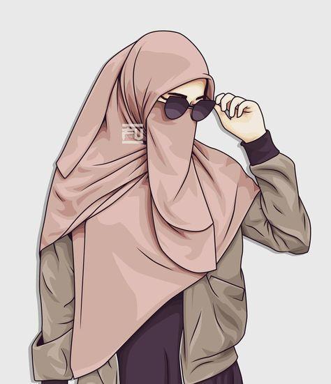 Download Berhijab Wallpaper Gambar Kartun Muslimah Cantik Terupdate