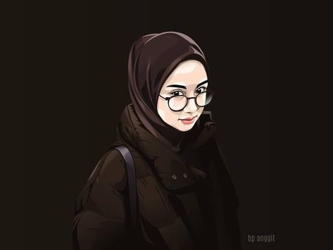 Gambar kartun muslimah terbaru 4
