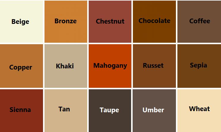43 Macam Macam Warna  Coklat  Kode Arti Cara Membuat