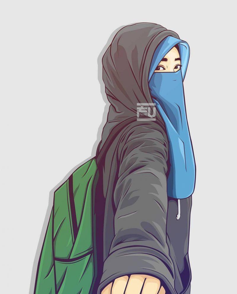 Top Five Wallpaper Gambar Kartun Wanita Muslimah Cantik