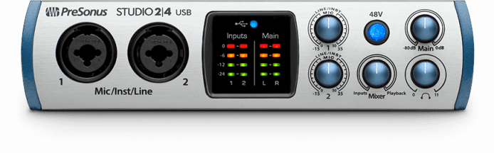 PreSonus 2|4 front view. Click for larger image.