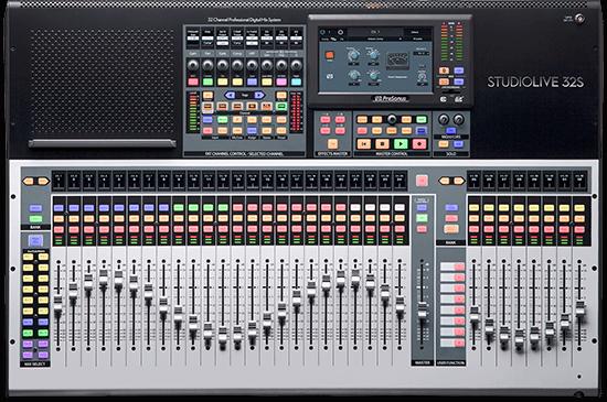 PreSonus StudioLive 32S. Click for larger image.