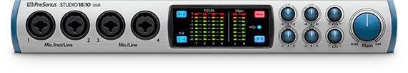 PreSonus Studio 18|10 front view. Click for larger image.