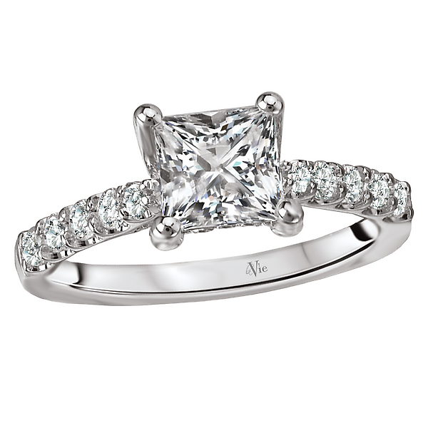 14K White Gold Trellis Semi-Mount Diamond Ring
