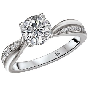 14kt White Gold Trellis Semi-Mount Diamond Ring