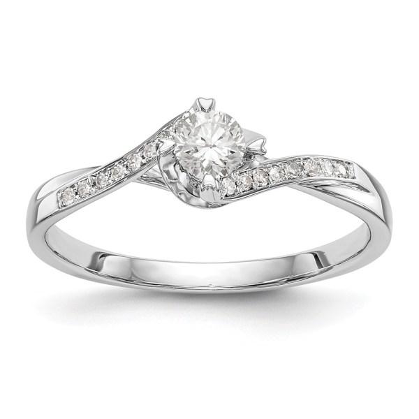 10K White Gold Diamond Semi-Mount Engagement Ring