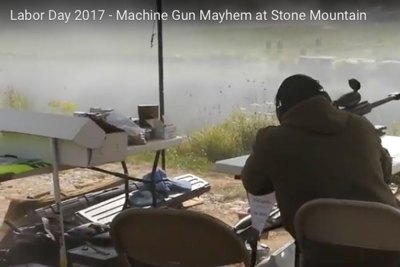 Labor Day 2017 – The 2nd annual Stone Mountain machine gun shoot