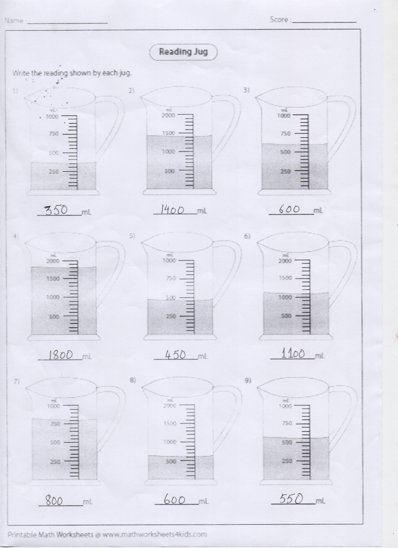 Ans Key Math Blog Worksheet Class 4 Pg 1