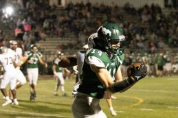 West Perry WR Ian Goodling catches a pass for a 2-pt conversion.