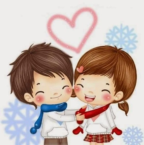 Cute Animated Couple Pics For Dp