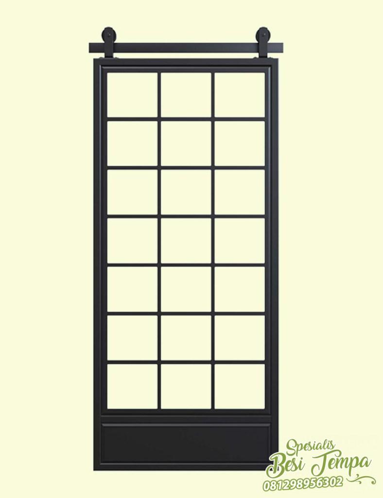 Model Sliding Door Kaca Dari Besi