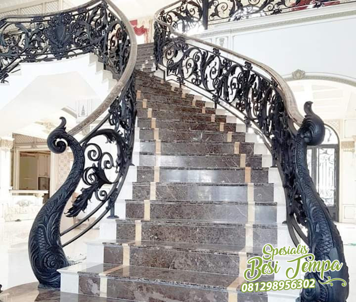 Classic Wrought Iron Stair Case