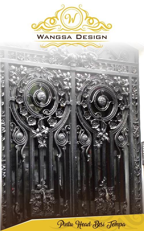 Pintu Head Besi Tempa
