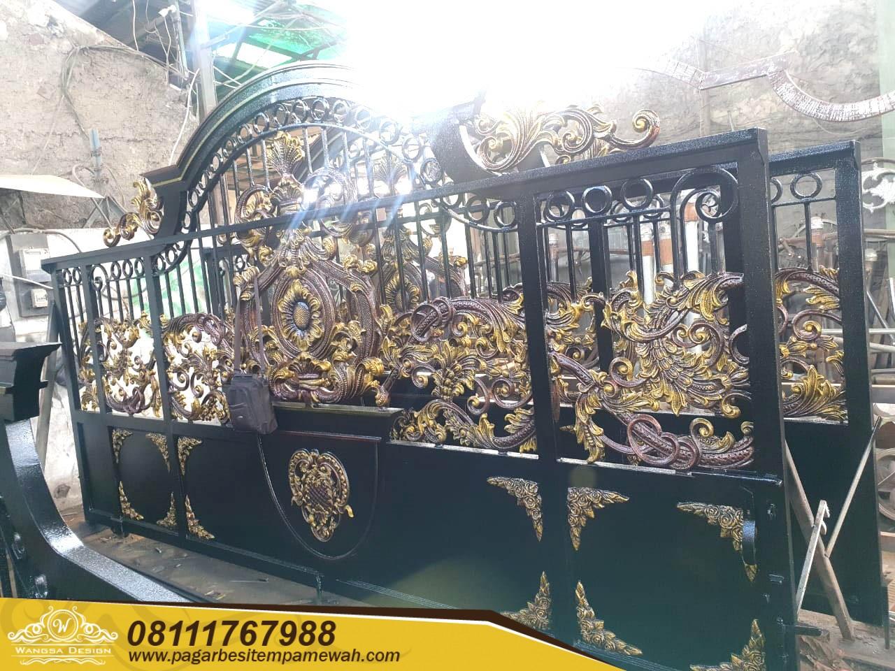 Pagar Pintu Gerbang Besi Tempa Bengkulu (3)
