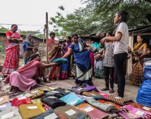 Snapshots from Saree Donation Drive