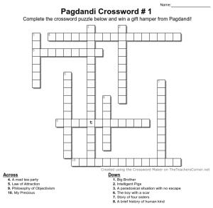 Pagdandi Book Title Crossword #1