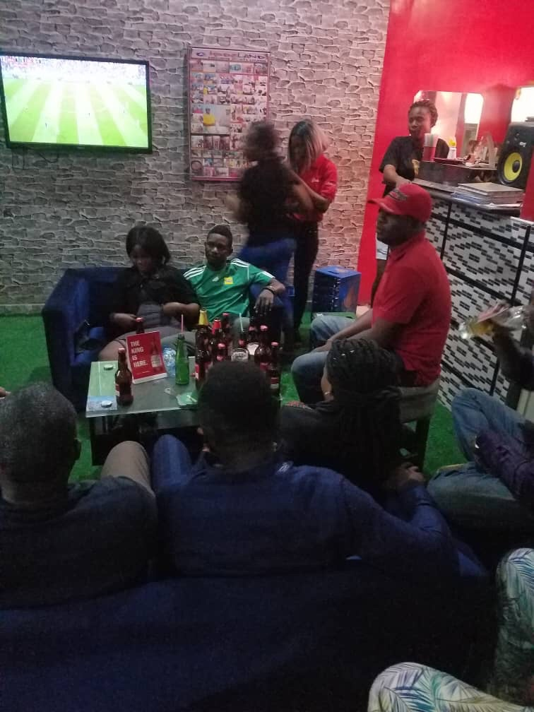 Watch Nigerian Soccer Fans Celebrate Nigeria's Victory Over Iceland at Kodeland Sports Lounge (Video)