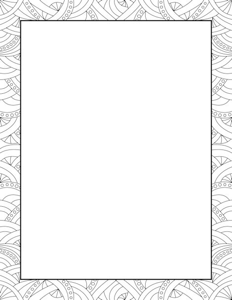 Abstract Pattern Border Clip Art Page Border and Vector
