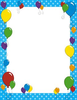 Birthday Border Clipart Free : birthday, border, clipart, Birthday, Borders:, Borders,, Vector, Graphics