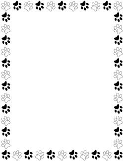 Black and Cream Striped Border: Clip Art, Page Border, and