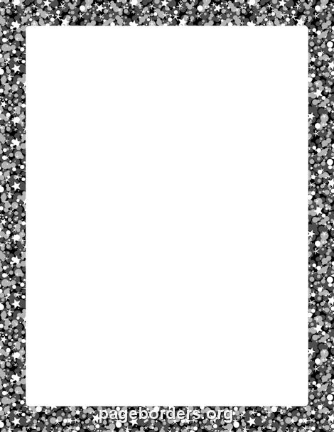 black glitter border clip art