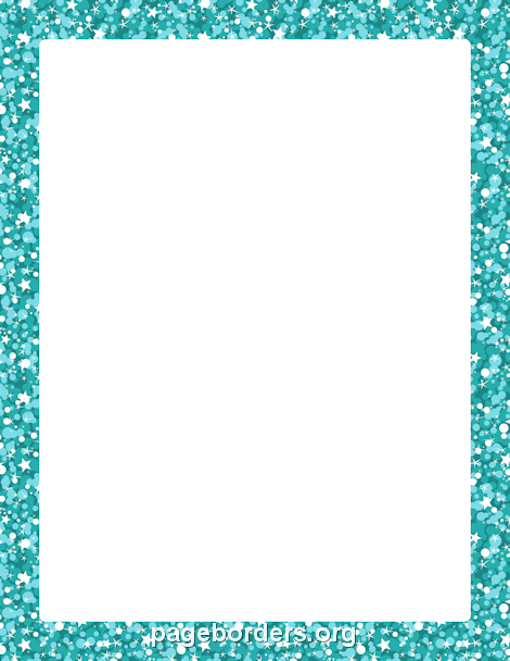 blue glitter border clip art