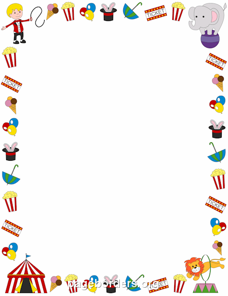 circus border clip art page